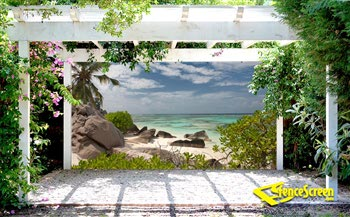 Paradise Cove Patio Screen - 212 Series 80%