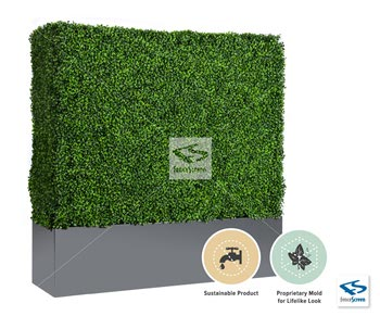 Boxwood Hedge With Planter Box - Gray Baxter Contemporary